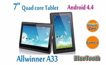cheap 7 inch Android 4.4 Tablet PC MID Allwinner A33 Quad core wifi tablet customize