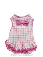 Pet Dog & Cat Clothes, Pink Bow Plaid Dress, Size XL , Apparel