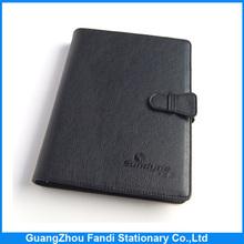 High sale custom leather notebook calculator with pen set