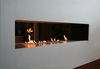 real flame ethanol burner insert fireplace with real fire