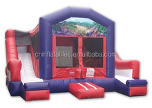 Double your fun with slides on both sides,inflatable combo slide