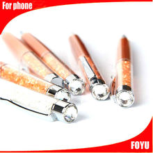 beautiful colorful stylus factory price crystal touch pen for smartphone wholesale touch pen
