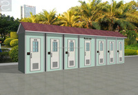 outdoor mobile portable composting public toilet