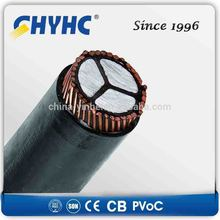 1core 3core 1900/3300V PVC Insulated Sheathed, Aluminum Wire Armoured LV largest cable manufacturer