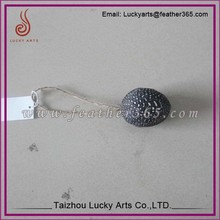 Taizhou lucky arts good quality 6cm nature Feather wire feather egg