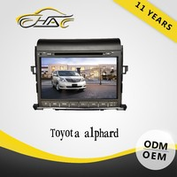 For toyota alphard car gps 9 inch touch screen car dvd player with tv tuner