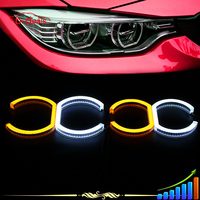 2015 Manufacturer Newest b.mw angel eyes e90 dual colors white & amber turning light
