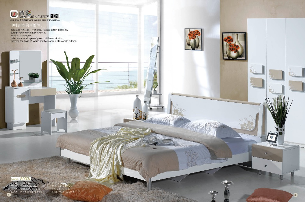 modern white painting used bedroom furniture for sale gzh 0493