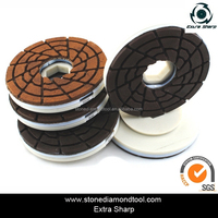 5 Inch Marble Edge Polishing Disc Snail Lock Polishing Pads