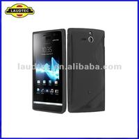 For Sony Xperia U ST25i, Soft Skin S-line Wave TPU Case, Gel Cover, New Arrival, Laudtec
