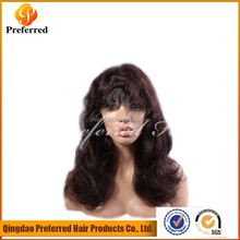Hot beauty virgin human hair full lace wig, carnival party wigs