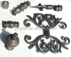Wrought iron spearhead iron fence and part