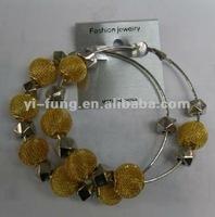 wholesale crystals bamboo earrings mesh balls for earrings rhinestone ball beads earrings