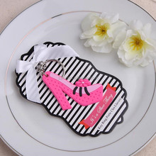 "Pink High Heel Key Ring ""It's a Shoe Thing ! wedding souvenirs gifts"