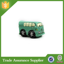 Creative Gifts Resinous Small Ornaments Vintage Bus Model Car