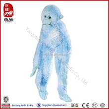 SEDEX ICTI BSCI WCA SA8000 audit factory China supplier plush hanging monkey stuffed blue monkey colorful vibes