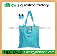 2015 hot sale printed animal folding shopping bag cheap price for promotion