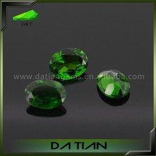 Fashion jewelry gems stone rings natural chrome diopside