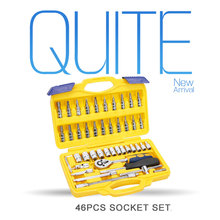 "46pcs 1/4"" Dr. socket set hand tool kit for Auto Repair Tool"