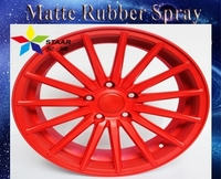 Matte series red high quality rubber paint spray for car wheel