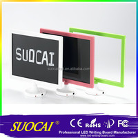 32*28CM LED writing Board, wireless electronic notice board,battery powered led message board