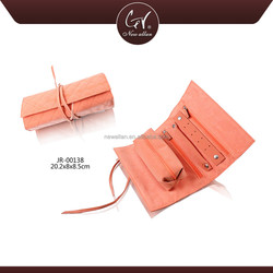 Newest Fashion Gift For Lady Custom Velvet Jewelry Pouch, Orange Pink Promotional Travel Jewelry Pouch With Logo