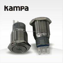 Kampa 19mm high quality metal push button Key Lock switch