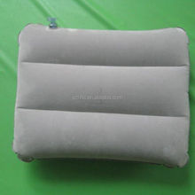 rectangle grey inflatable air bed travel pillow cushion for camping hiking backpacking, throw pillow