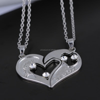 In Stock Valentine's Day Couple Necklace Half Heart Couple Necklace