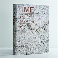 Loose-leaf notebook with iron spiral Time control