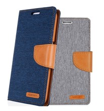 Fashion goospery canvas diary case for iphone 6