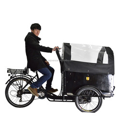 Cheap high quality China 3 wheel front cargo tricycle made in China with wood bakfiets