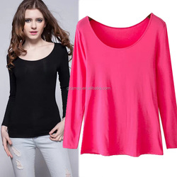 guangzhou blank crew neck t-shirt with pattern with long sleeves cheap china wholesale clothing