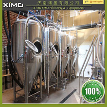 beer brewery equipment 60 degree cone bottom,with an average of 25% head space beer brewing equipment