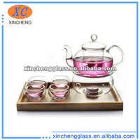 HOT!! Heat-resistant exclusive cheap glass tea set for adults