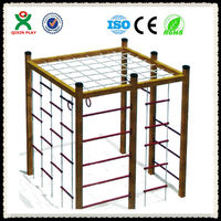 China wholesale cheap rope adult/kids climbing frame in wooden/metal climbing frame QX-077C