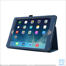 Factory Cheap Price Litch Grain Leather Cover Case For iPad mini 4, Folio Stand Leather Case For iPad mini 4
