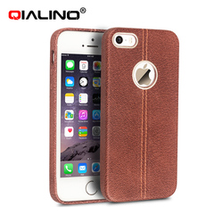 The high quality genuine flip leather case for iphone5
