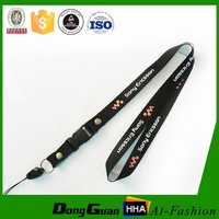 Polyester printed cell phone lanyard neck strap
