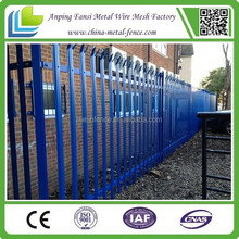 Low cost high security steel palisade fencing-for industrial and residential and high security needs
