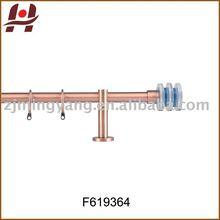 F619364 metal iron aluminium steel plated plain twisted adjustable extensible telescopic window crystal curtain rod finials