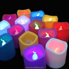 Colorful Electronic Flameless WAX LED Candle Light Wholesale Flickering Led Christmas Candle Lights