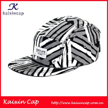 5 panels capwith colorful strips pattern