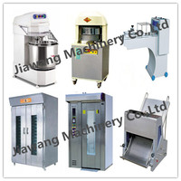 Hot sale bread toast production machines\ rotary oven for baking \ power mixer\poofer