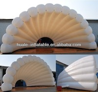 2015 High quality cheap white inflatable stage shell, cheap outdoor christmas inflatables for sale