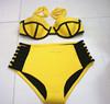 quick dry high waist neoprene triangle bikini swimwear swimsuit bathing suit beach wear wet suit