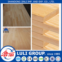 melamine rubberwood finger joint board from shandong LULI group factory outlet