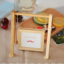 Creative DIY raw wood photo frame with string / Custom photo frames quality wood