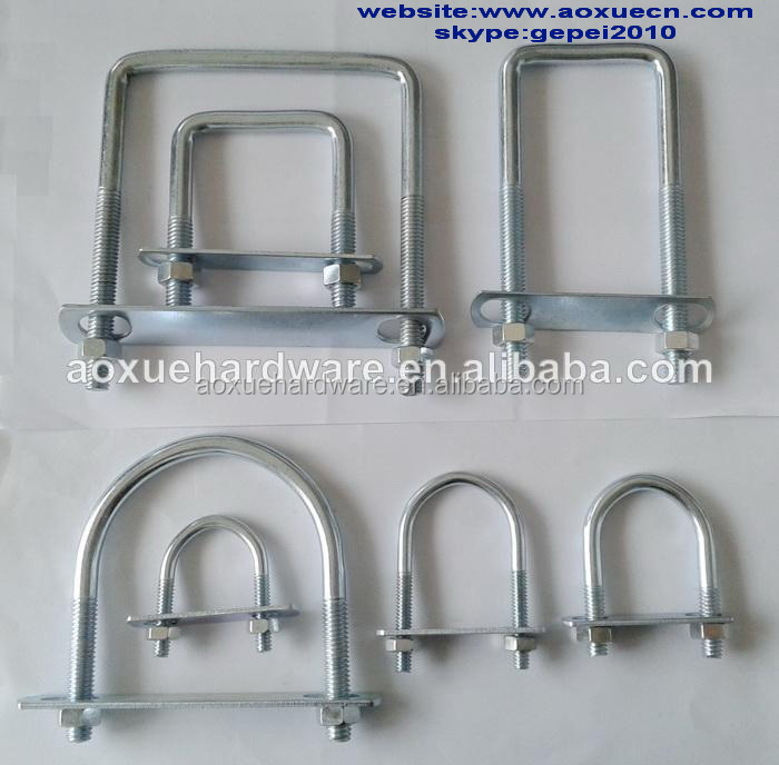 U shape metal pipe clamps bolts buy fastener clamp