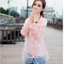 UV sun protection clothing fashion long-sleeved jacket collar female Lady Apparel Jackets